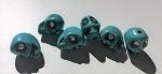 Turquoise Colored Skull Beads #101818